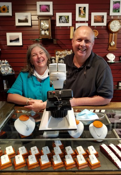 Tim and Karen Bounds, Owners of Mountain Jewelers in Newland, North Carolina